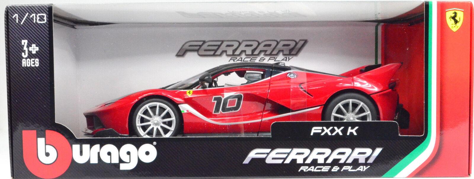 Ferrari FXX K rouge Maßstab 1 18 von Bburago