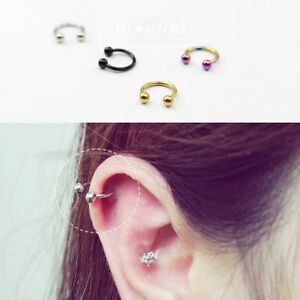 Image Is Loading 16g Horseshoe Ring Septum Tragus Cartilage Earrings