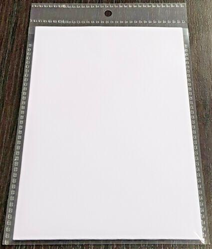 100x A6 Sichttasche Aufhängehülle Sichthülle mit Klappe /& Lochung glasklar 145my