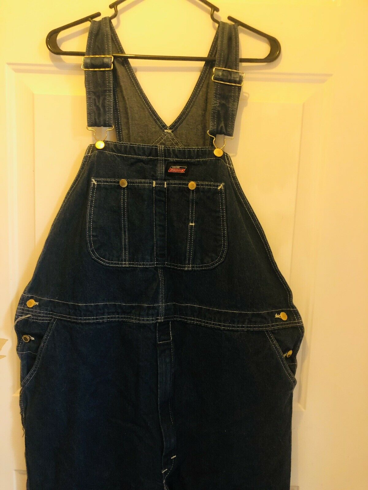 Dickies Jeans  Bib Overalls Size 42x32 - image 1
