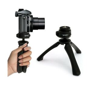 Video Cameras /& Camcorders Black igadgitz U4330 Mini Lightweight Table Top Stand Tripod and Grip Stabilizer Compatible with Digital Cameras DSLRs