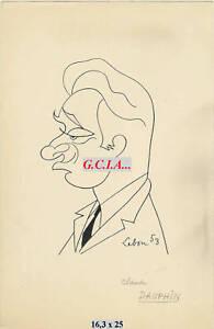 C.DELFINO - RITRATTO/fumetto-ORIGINALpar LEBON 1953