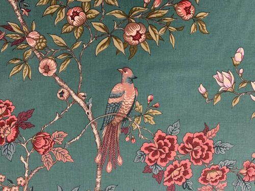 China puede aves Verde Azulado Zaraza Tela De Algodón 140cm Cortina//Craft