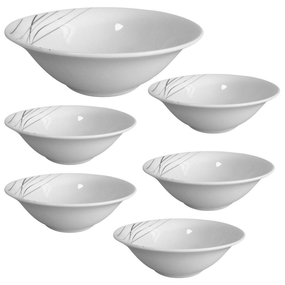 Set of 6 porcelain 6  Salad Bowl pates dessert Cereal Kitchen Serving Fruit Rice
