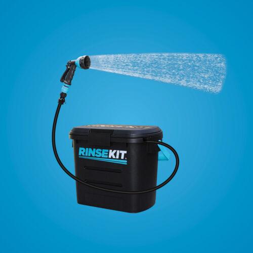 Die mobile Dusche Wassersport RinseKit für Camping schwarz Hunde Angeln