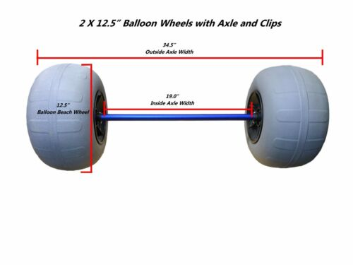 "12.5"" Balloon Beach Wheels with Axle Kit"