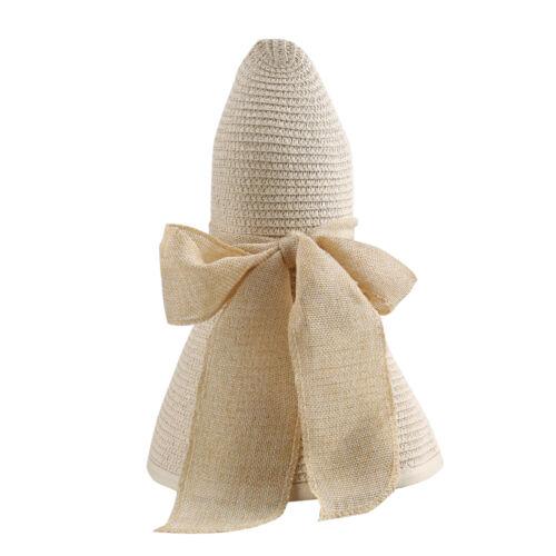 Women/'s Summer Hamptons Natural Straw Hat Floppy Wide Brim Sun Beach Ladies Cap