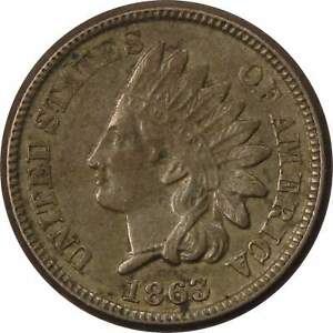 1863-Indian-Head-Cent-XF-EF-Extremely-Fine-Copper-Nickel-Penny-1c-Coin