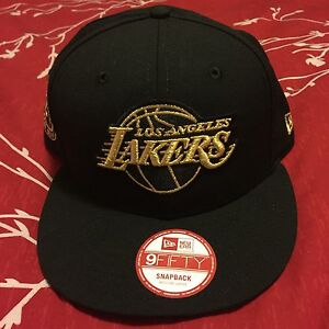 9d60e9d47bf23a Details about Kobe Bryant Retirement Hat New Era Snapback Los Angeles Lakers  Black/Gold HTF