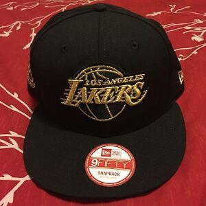 Details about Kobe Bryant Retirement Hat New Era Snapback Los Angeles Lakers  Black Gold HTF 46fff15e93c