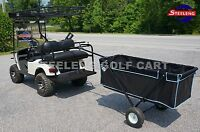 Golf Cart Beach / Farm / Yard Utility Foldable Trailer Use W/t Trailer Hitch