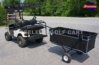 Golf Cart Beach / Farm / Yard Utility Foldable Trailer Use W/t Trailer Hitch