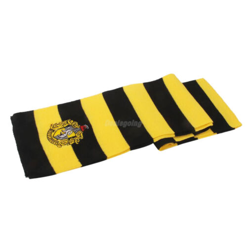 Harry Potter Vouge Hufflepuff House Cosplay Knit Wool Costume Scarf Wrap