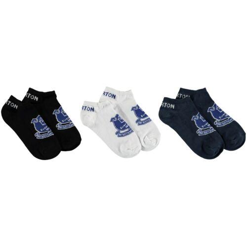 New Everton FC 3 Pack Ankle Liner Socks