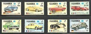 Album-Treasures-Gambia-Scott-620-627-Classic-Automobiles-MNH
