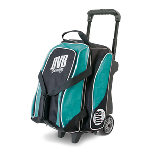 DV8 Circuit 2 Ball Deluxe Roller Bowling Bag with Urethane Wheels Teal