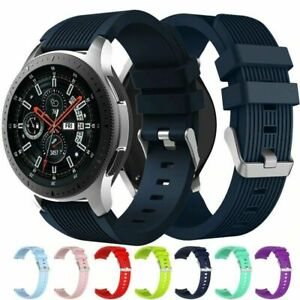 For Samsung Galaxy Watch 46mm Silicone Fitness Replacement Wrist Band Strap