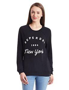 Superdry Applique Raglan Dames Sweatshirt Verscheep Zwart internationaal Crew STA7xT