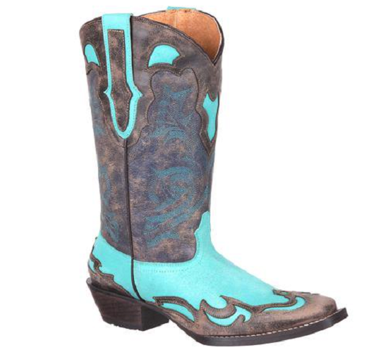 Durango Womens Wingtip Western Boot Turquoise bluee Dream Cathcer DRD0211 NEW