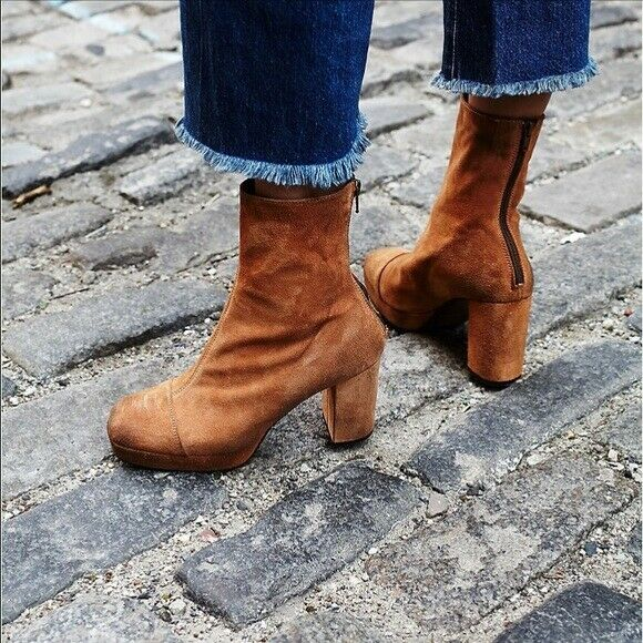 Free People Day For Night Platform Ankle bota Talla 11 New MSRP   228 Suede