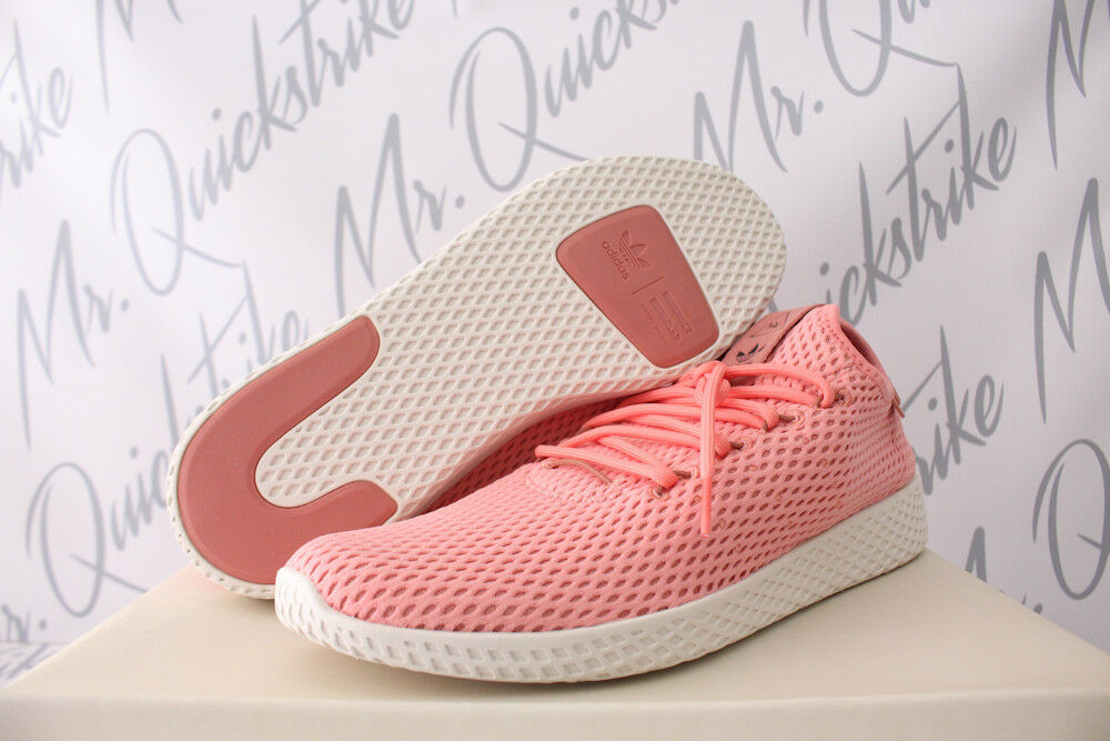 PHARRELL WILLIAMS TENNIS HU SHOES SZ 8-13 TACTILE pink RAW PINK BY8715