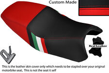 RED & BLACK CUSTOM ITALIAN FLAG DESIGN FITS DUCATI ST2 ST4 DUAL SEAT COVER