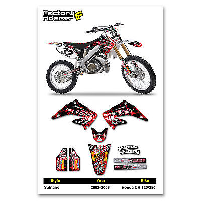 2002-2008 HONDA CR 125 250 SOLITAIRE Motocross Graphics  Decal By ENJOY MFG NICE