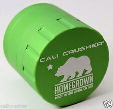 Cali Crusher Homegrown Herb, Spice & Tobacco Grinder 4 Piece Aluminum Green