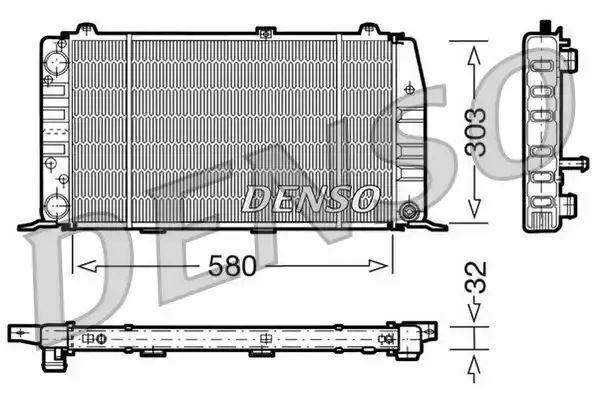 1x denso Radiador DRM02010 DRM02010