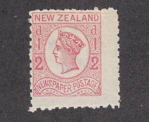 New Zealand Sc P3b MNH. 1875 ½p rose QV newspaper stamp, fresh