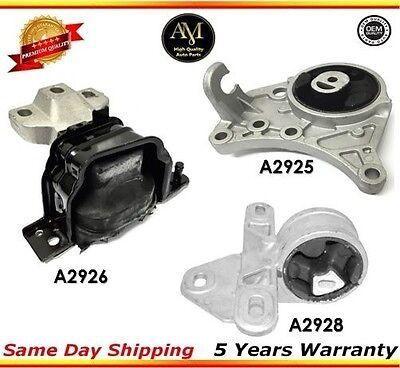 Transmission Mounts 2PCS Set for 01-07 Chrysler Town /& Country 3.3L//3.8L 2WD