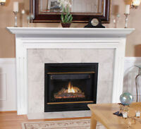 Pearl Mantel Classic 48 Newport White Traditional Fireplace Mantel. 510-48