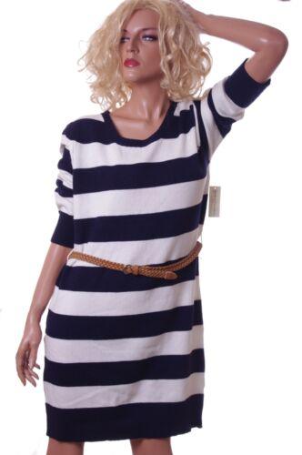 Womens Blue White Striped Sweater Dress 3//4 Sleeve Medium Plus Size 1X 2X 3X NEW