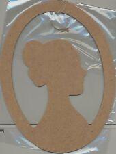 Gabarit en MDF Forme à décorer Dame 20x26,5 cm Lady