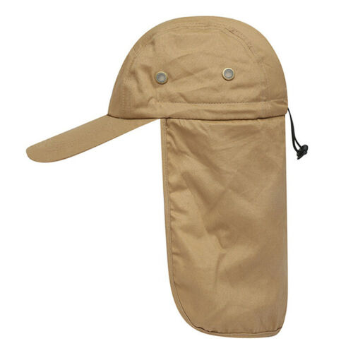 Neck Sun Visor Cover For Hiking Flap Solid Long Sunshade Nylon Sun Protection FA