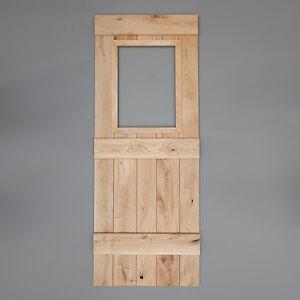 Image is loading Bead-&-Butt-Oak-Internal-Ledged-Solid-Door- & Bead u0026 Butt - Oak Internal Ledged Solid Door - Cottage Door - Glass ...