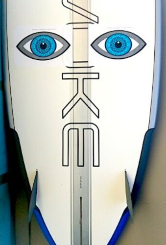 Shark Scare Eyes wide size is a visual deterrent Surfboard sticker