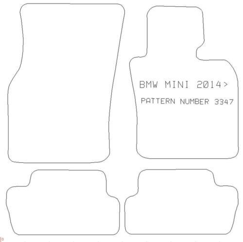 CAR MATS for BMW MINI COOPER 2014 to 2019 2 Door Car Pattern 3347