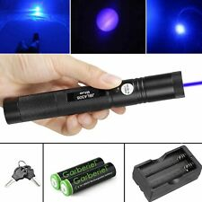 900 Miles 1mw Blue Purple Laser Pointer Pen Visible Beam Light Battery Charger
