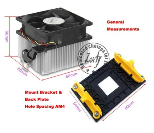 Mount Bracket /& Back Plate AMD RYZEN Socket AM4 CPU fan cooler heatsink radiator