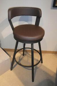 Groovy Details About Set Of 2 Industry Metal 29 Swivel Bar Height Swivel Bar Stool Chair Brown Pu Uwap Interior Chair Design Uwaporg