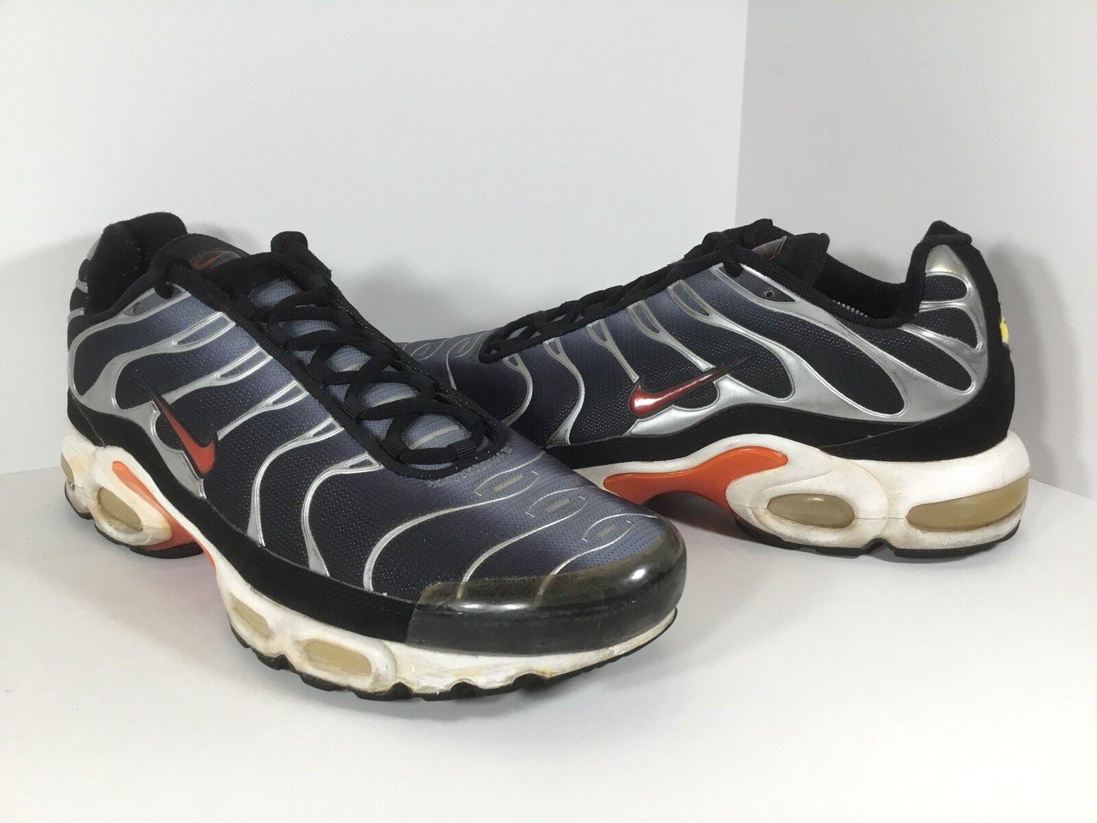 Nike Air Max Plus Machine Grey Silver Black White Mens Size 11 Rare 604133-061