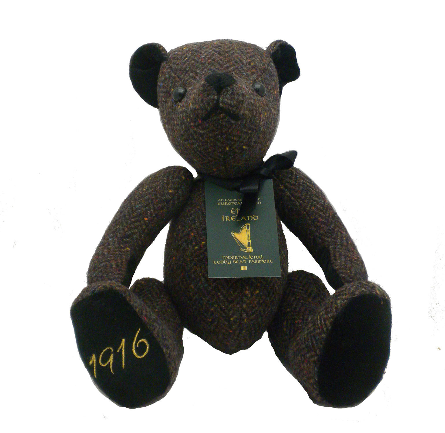 International 1916 Heritage Teddy orso fatto in Irele by Celtic Celtic Celtic Gent Wool Tweed cb1398