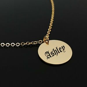 223b97ead Image is loading Old-English-Font-Name-Necklace-Custom-Gothic-Jewel-