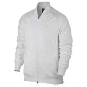 6a7ba8ec3366a7 NIKE Air Jordan Wings Woven Muscle White F Z Windbreaker Jacket NEW ...