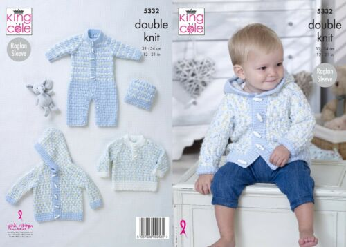 not the finished garments KINGCOLE 5332 BABY DK KNITTING PATTERN  12-21 IN