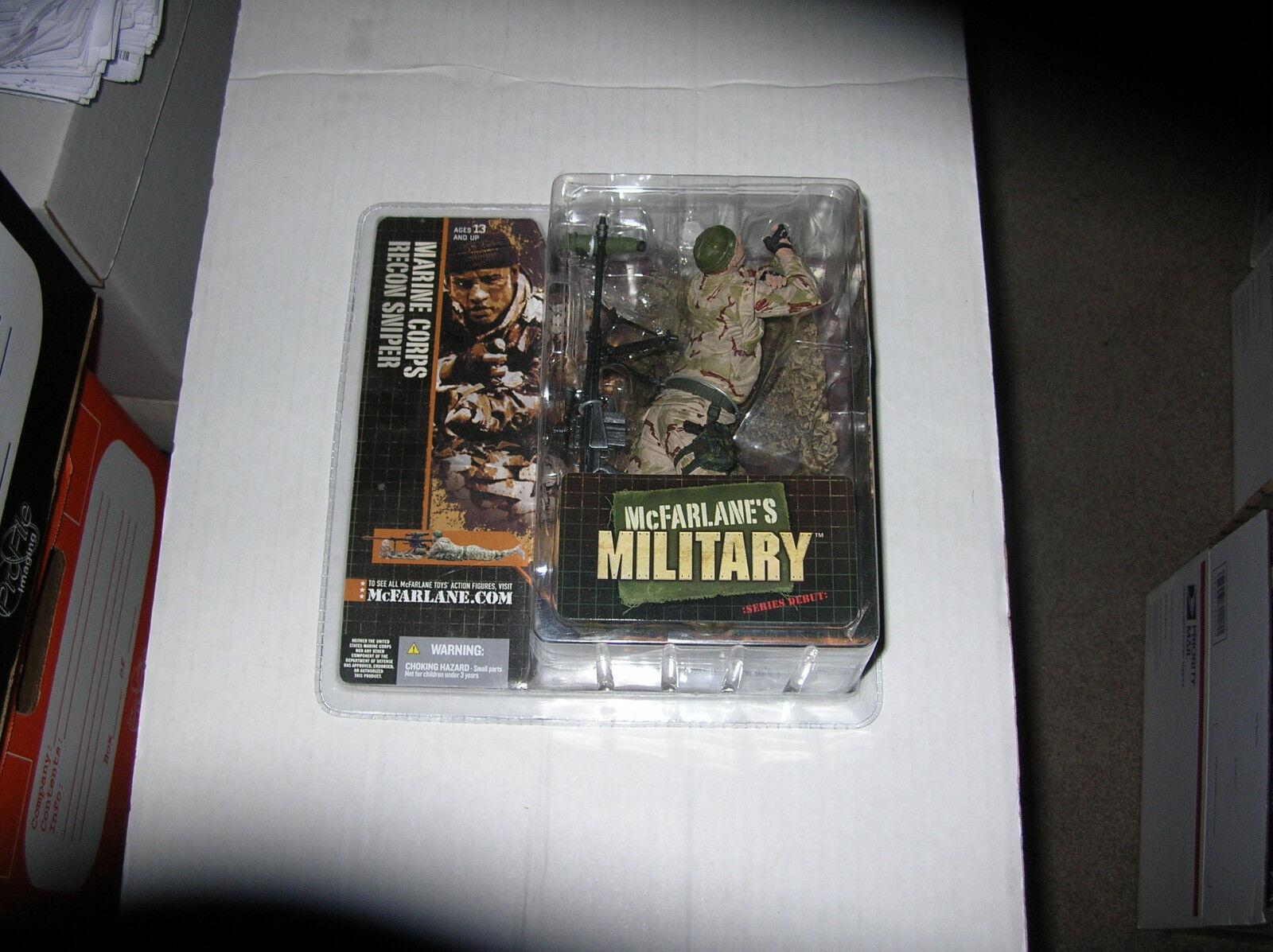Mcfarlane's Military MARINE CORPS RECON SNIPER*CAUCASIAN* NEW IN BOX