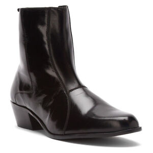 59a5ed046 Stacy Adams Mens Boot Santos Black Leather Sole Cuban Heel 24855-001 ...