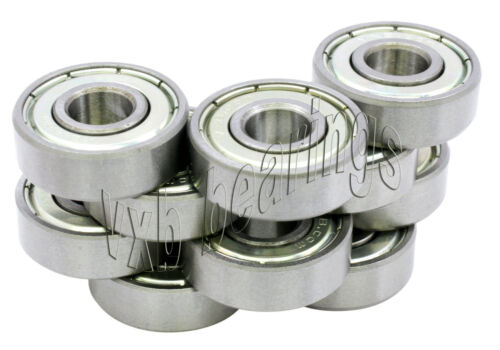 Pack of 10 1.5x6x3 mm Stainless Steel Shielded Miniature Ball Bearings 1.5mm ID