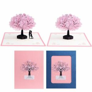 Details about Cherry Tree Paper Pop Up Greeting Card 3d Romantic Birthday Gift Holiday Craft  sc 1 st  eBay & Cherry Tree Paper Pop Up Greeting Card 3d Romantic Birthday Gift ...